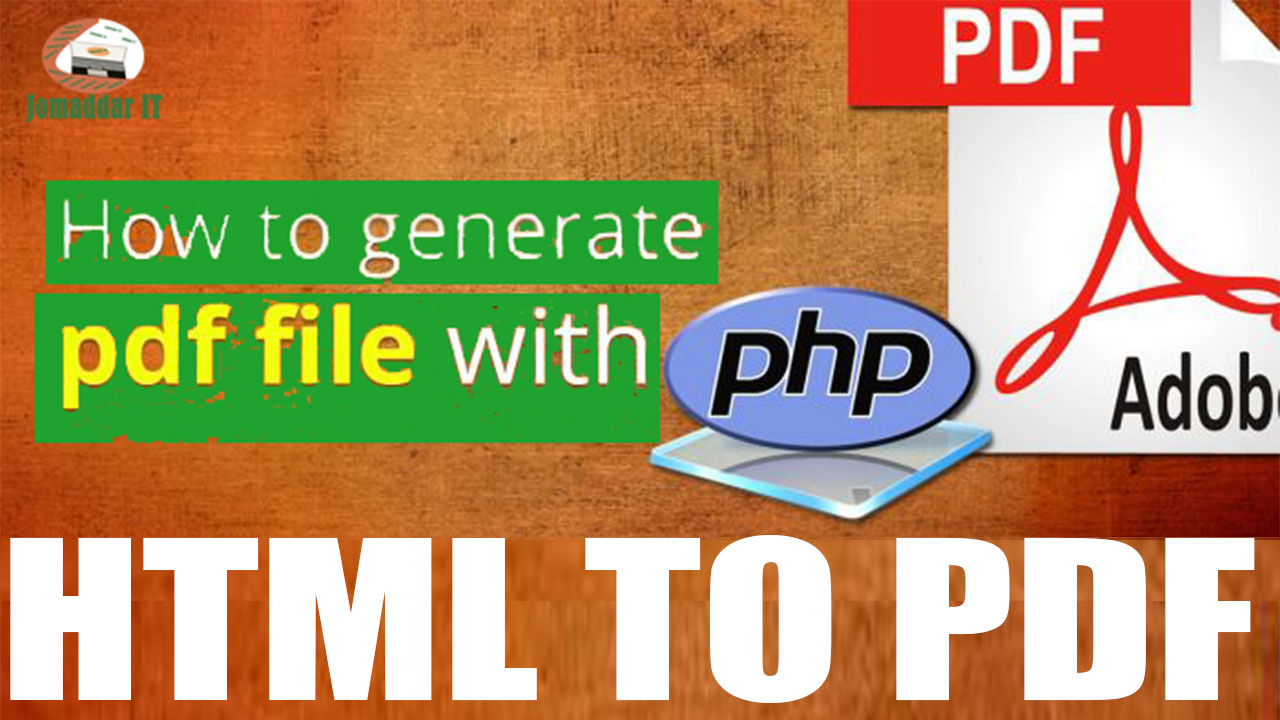 How to generate HTML TO PDF file useing with php dompdf libarary